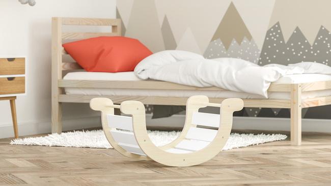 mobili per bambini, allenamento in casa, sedia a dondolo in legno, cameretta, mobili per bambini, dondolo