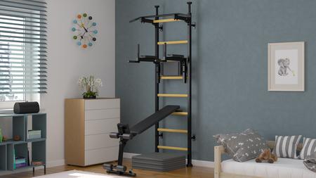 scala per ginnastica, spalliera svedese, spalliera, esercizi di ginnastica, palestra in casa, barra per trazione, parallele dip, barre per trazioni,