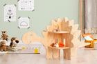 mobili in compensato, mobili ecologici, tavolo per giocattoli, scaffale per giocattoli, mobili per bambini, mobili eco